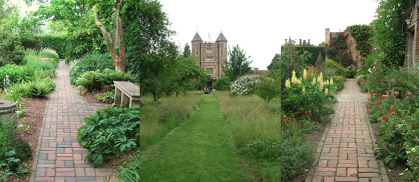  Sissinghurst has lots of straight paths. 