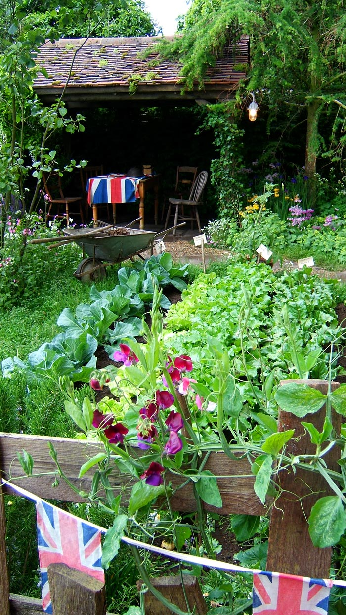 Vegetable Patch Of Chelsea Pensioners Garden