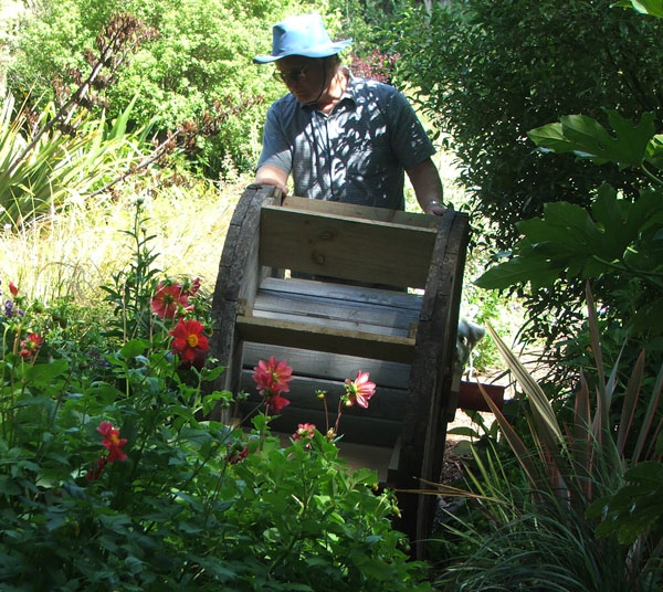 Wheeled Through The Flower Gardens To Its Location In The Stream. Here  Comes The Waterwheel