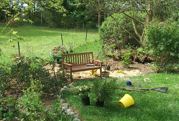 I am still workng on this new garden area.
