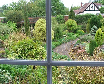 Winsford Walled Garden, from the B'n'B window.