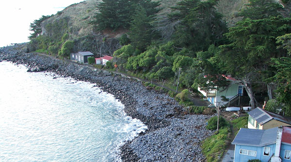 This is where we have morning tea on the cliff-top walk.
