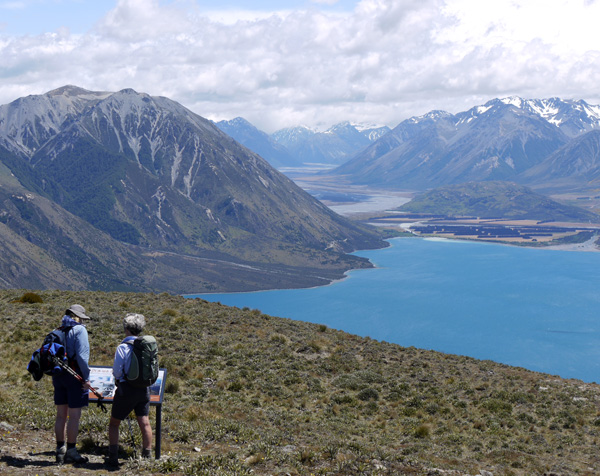 Overlooking Lake Coleridge and the Wilberforce river valley.