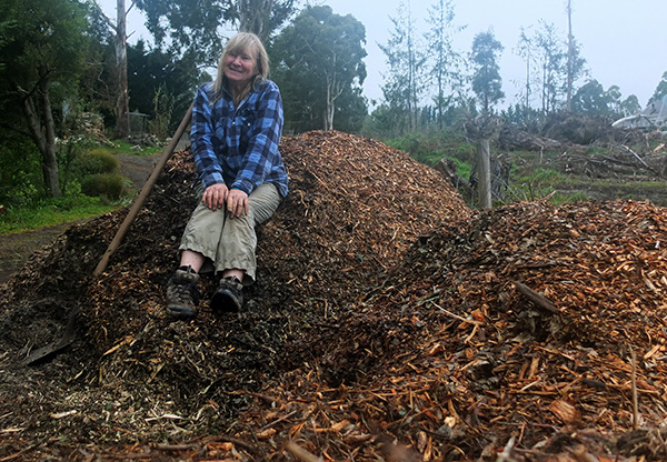 Me on the Mulch Mountain