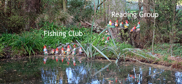 Fishing Club and Book Group.