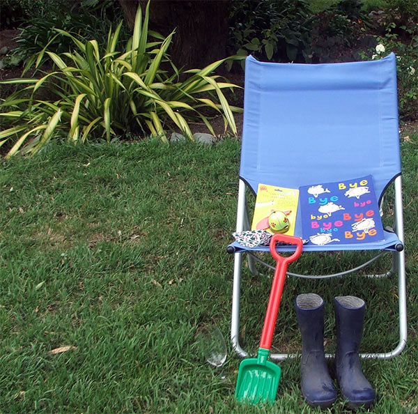 My favourite blue deck chair is waiting!
