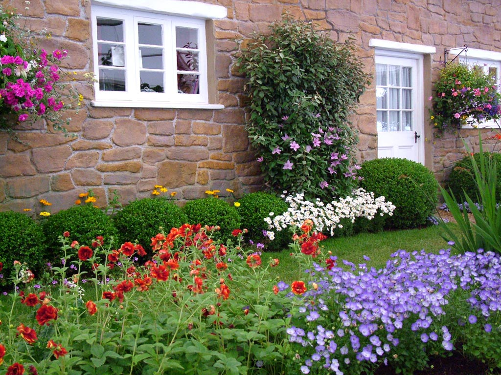 Cottage Garden Flower Bed Design Front Yard Landscaping Ideas