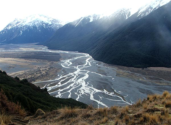 A beautiful braided river.