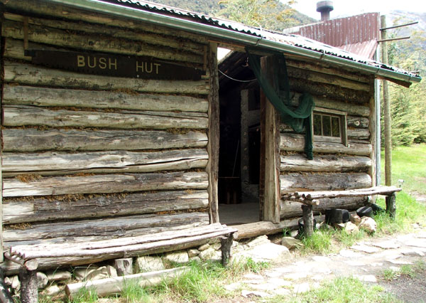 A log cabin in the bush.