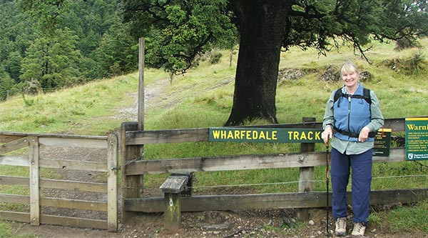 The beginning of the Wharfedale Track.