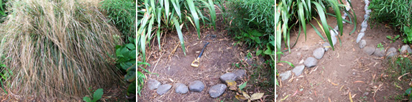 Here is the start of the new Wattle Woods path.