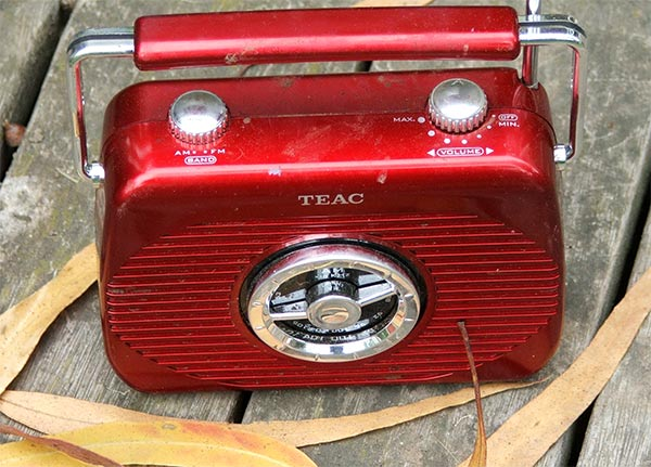 My red cricket radio.